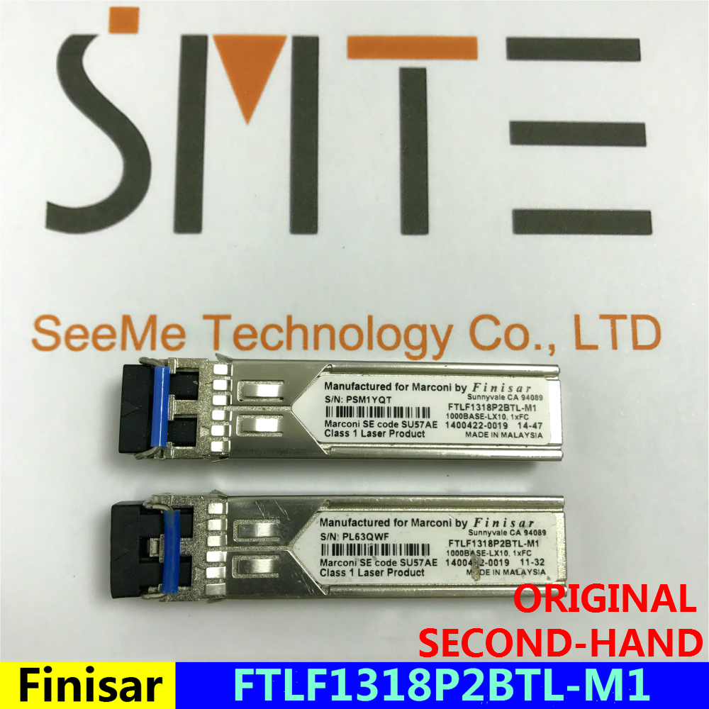 ORIGINAL AND SECOND HAND Finisar FTLF1318P2BTL-M1 1000BASE-LX10.1xFC Manufactured For Marconi PSM1YQT Marconi SE Code SU57AE