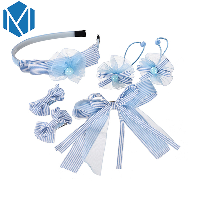 M MISM Woman Girls Lace Flower Hair bands   Srunchy   Hairpins Set Bowknot Hair  Clips Accessories Floral Elegant Hair jewelry 1dc3548a8f9b