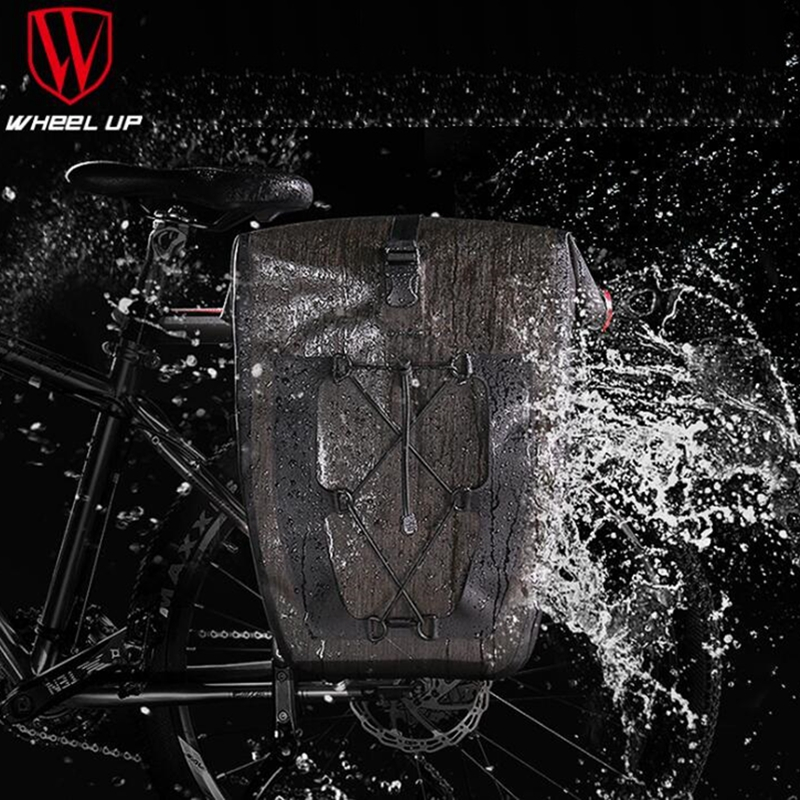 Waterproof Bicycle Rear Seat Trunk Bag 27L Bike Saddle Panniers Bicycle Pannier Rear Seat Bike Bag for Cycling Saddle Bag roswheel bicycle bag men women bike rear seat saddle bag crossbody bag for cycling accessories outdoor sport riding backpack