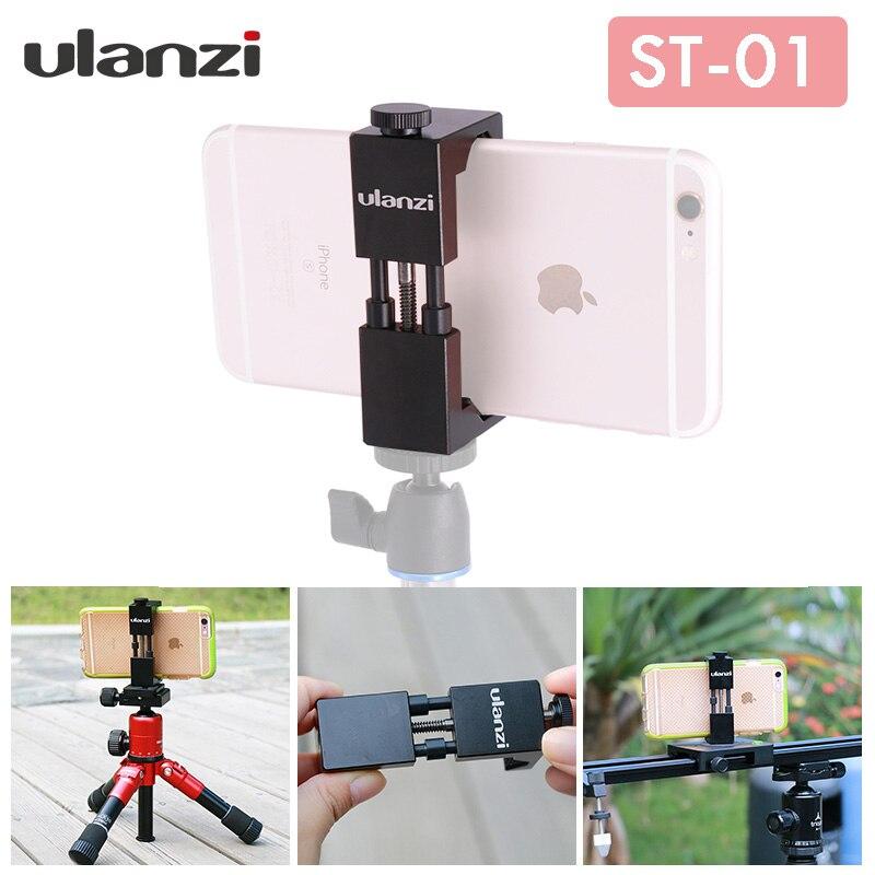 Ulanzi Smartphone Tripod Mount Aluminum Universal Metal Phone Tripod Adapter for iPhone 7 iPhone 7 Plus
