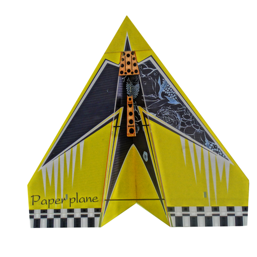 1024mm Wingspan Diy Rc Airplane Aircraft Paper Plane Kit Red/yellow Aromatic Character And Agreeable Taste