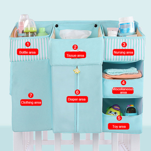 Image 3 - Baby Crib Bed Hanging Storage Bag Baby Bed Diaper Organizer Bedding Sets Accessories for Crib Storage and Nursery Organization