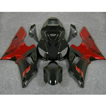 Carenados de inyección para motocicleta 1998 1999 YAMAHA YZF R1 98 99 YZF 1000 kits de carenado Rojo Negro de fábrica