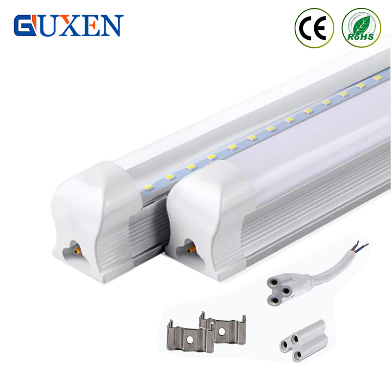 4ft Led tube T8 Integrated Lamp 22W 1200mm AC85-265V SMD 2835 LED light lamp tubes 2 years warranty CE RoHS Store in US 50pcs 50pcs integrated t8 tube144pcs smd 2835 1800mm 6feets 36w led tube light fluorescent lamp t8 85 265v led tubes