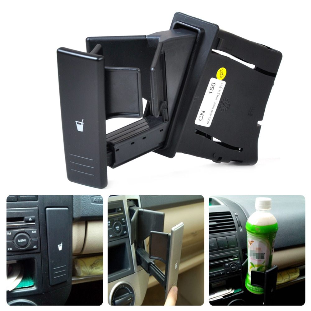 beler 1Pc Black Center Console Water Drink Cup Holder 6Q0 858 602 G for VW Polo 2002 2003 2004 2005 2006 2006 2007 2008 2010 2010