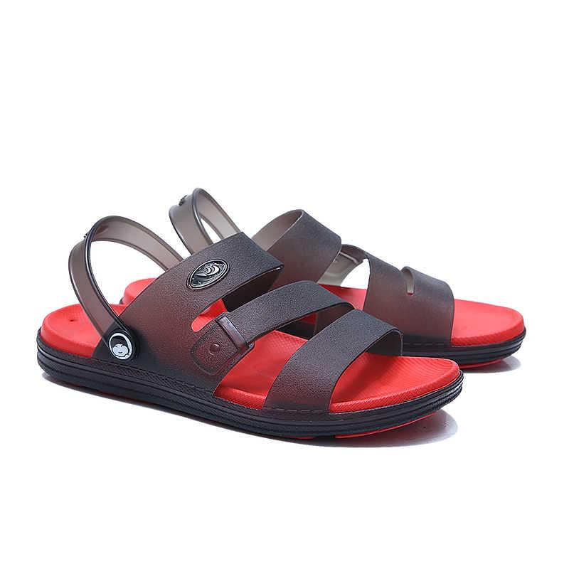 MIUBU nuevos zapatos de jalea de verano Sandalias de playa para hombres zapatillas huecas Chanclas de hombre Chanclas de verano al aire libre