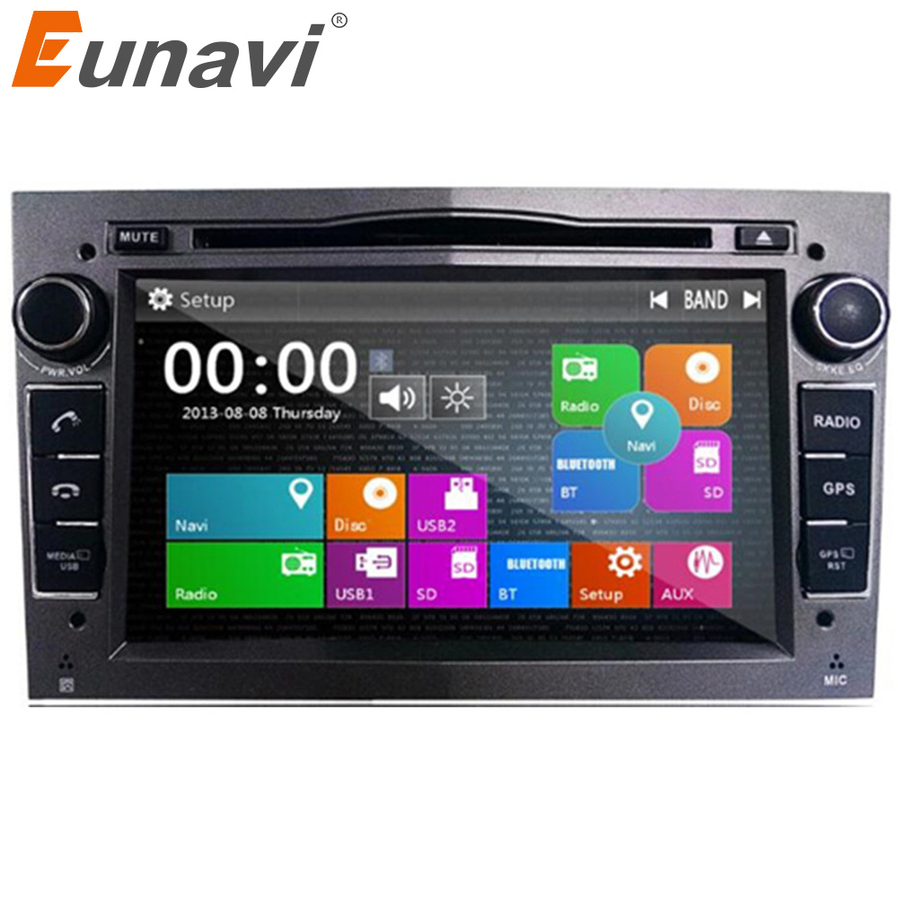 Eunavi new 2 Din Car DVD For Opel Astra Vectra Corsa Meriva Zafira with GPS Navi Bluetooth Radio RDS 3g USB SD Canbus Map gift wince 6 0 steering wheel control bluetooth rds for opel astra vectra zafira car dvd player gps navigation free map touch screen