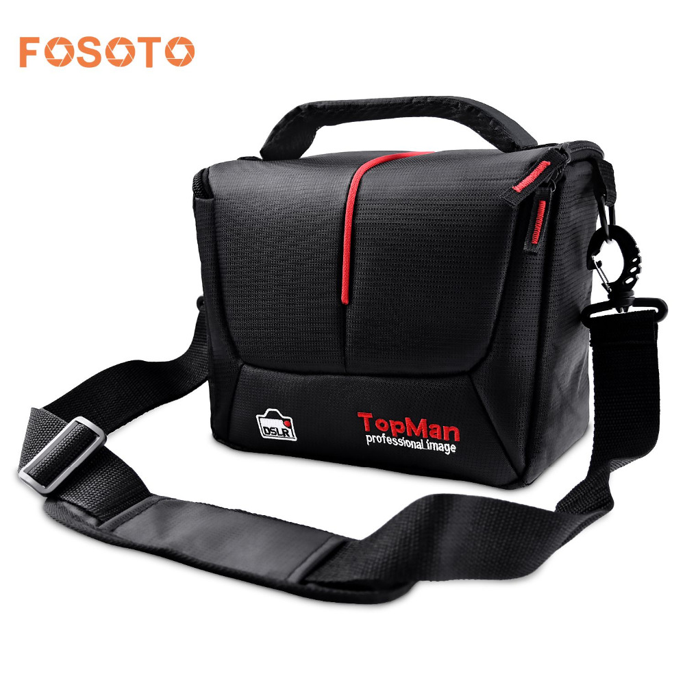fosoto DSLR Camera Bag Digital photography Photo Video Shoulder Case Cover Nylon Bags For Dslr Sony Canon Nikon D700 D300 D200 sepai b702 protective nylon camera one shoulder handheld bag for sony a350 a380 dslr black
