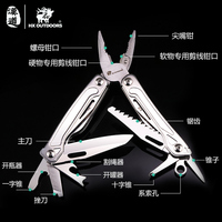 HX OUTDOORS 14 in 1 Multi Pliers tools black pliers with screwdriver Plier camping survival climbing hiking knife pocket cutting
