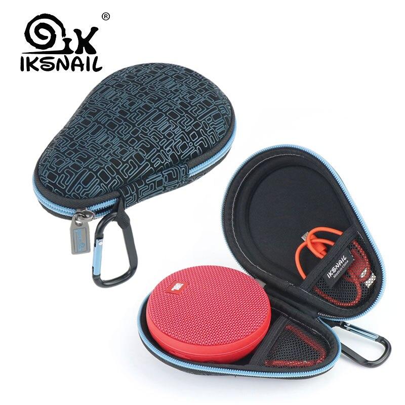 IKSNAIL Altavoz Bluetooth bolsas de viaje para JBL Clip 2 altavoces caja de resonancia de almacenamiento caja de Protector de bolsa llevar EVA duro caso
