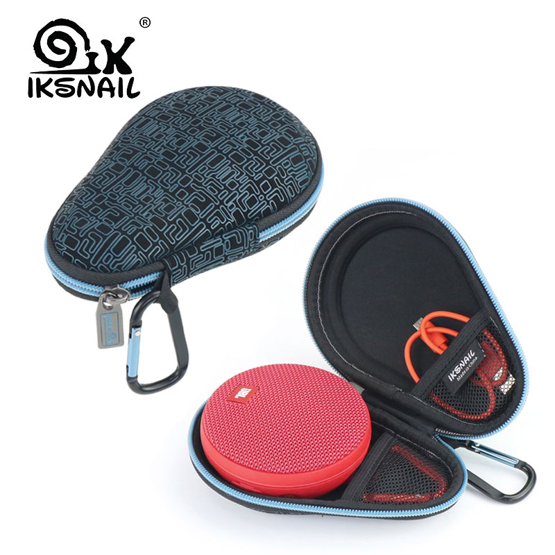 IKSNAIL Bluetooth Speaker Travel Bags For JBL Clip 2 Wireless Speakers Soundbox Storage Box Pouch Protector Carry EVA Hard Case