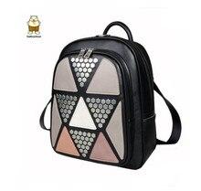 Estilo Preppy Mujeres Mochila de Diseño de Lujo del Diamante de la Señora patrón femme sac a dos mochila Para Las Adolescentes de LA PU alto calidad