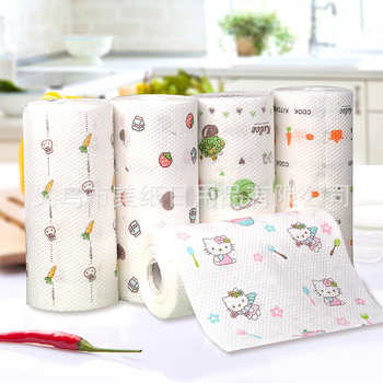 Large Size Kitchen Printed Oil Absorption Paper Super Water Oil Absorption Towels Kitchen Washing Wipe Dishcloth Kitchen Tools