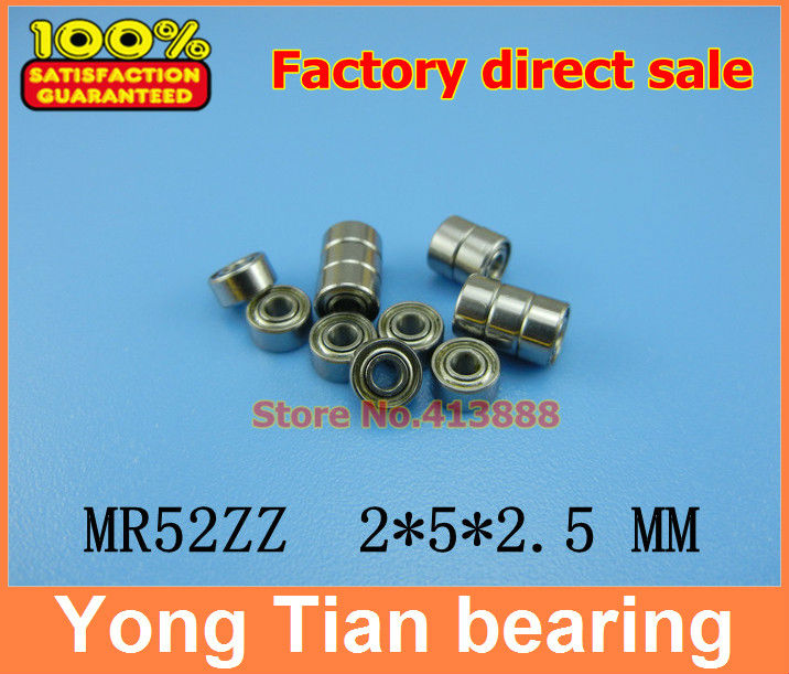 Free shipping 10pcs High quality Low-speed bearings MR52 Z MR52ZZ MR52Z L-520ZZW52 2x5x2. 5 mm 2*5*2.5 mm free shipping 10pcs el65764so 5
