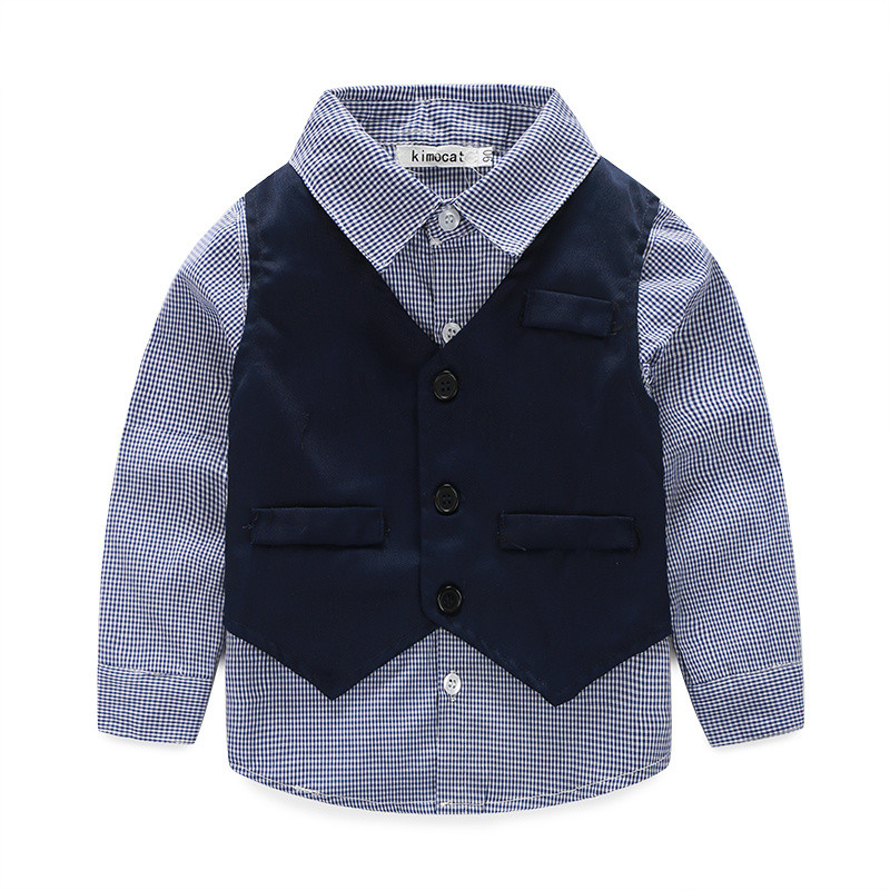 576abafeebf6 3pieces set autumn 2015 children s leisure clothing sets kids baby boy suit  vest gentleman clothes for weddings formal clothing-in Clothing Sets from  Mother ...