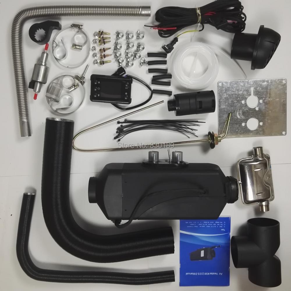 (Libero da Espresso)-5KW 12V diesel riscaldatore ad aria per il Camion Barca Van RV-Per sostituire Eberspacher D4, webasto riscaldatore diesel, la credenza riscaldatore