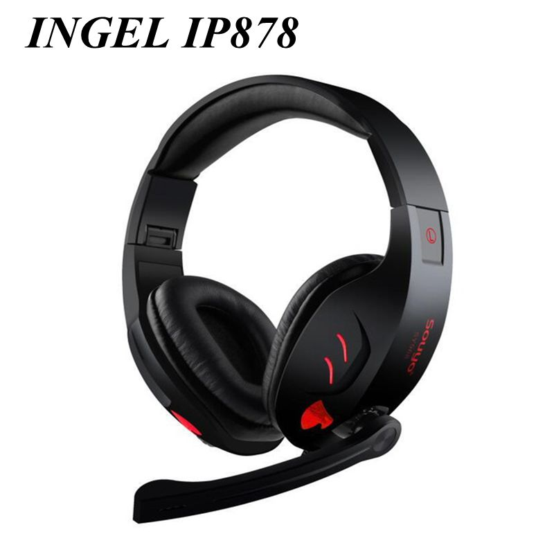 New INGEL IP878 Wired Gaming Headphones Foldable Bass Headsets Stereo MP3 Earphones For iphone7s Plus For Samsung 8 Huawei P10