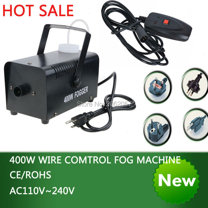 Hot sale colorful package mini 400W Wire control fog machine pump dj disco smoke machine wedding party stage Lampblack machine free tax to eu hot sale 400w smoke machine mini fog machine dmx hazer machine special effects for stage light smoke projector