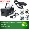 Hot sale colorful package mini 400W Wire control fog machine pump dj disco smoke machine weedding party stage Lampblack machine