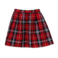 2018 Newly Arrival concise leisure Girls PREPPY Style Scotland Plaid Checks School Uniform Pleated Skirt Cotton Tartan HOT SALE