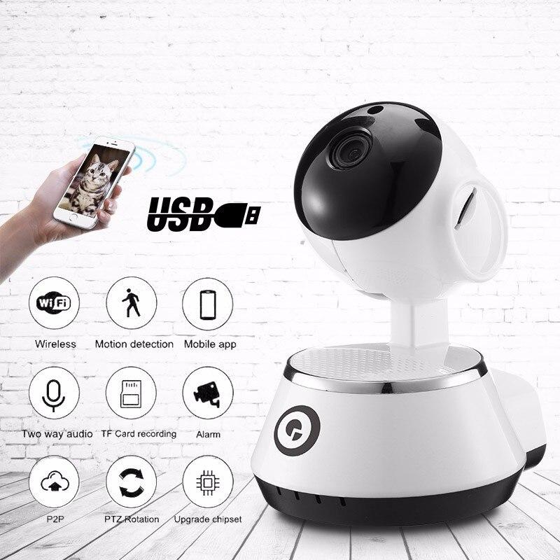 High Quality BB-M1 Wireless WiFi USB Baby Monitor Alarm Home Security IP Camera HD 720P Audio Onvif Security Protect Camera foscam fi9826p wireless ip camera home security alarm 1 3mp 960p