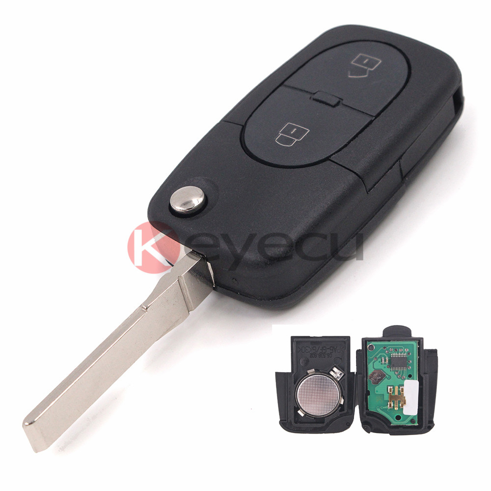 Flip Remote Key 2 buttons 433.92Mhz ID48 Chip for Old Models Audi A3 A4  A4 A6  A6 Quattro RS4 4D0 837 231 R