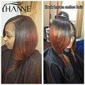 Ломбер Бразильские Волосы Прямые Человеческие Волосы Соткать 4 Пучки 1B/33 2 тона Ломбер Прямо Бразильский Волос Remy Черный И Темно-коричневый