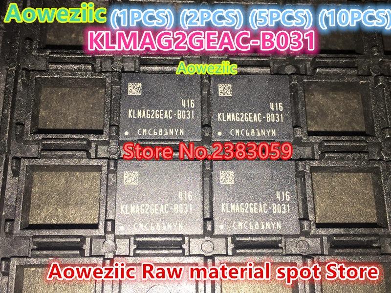 Aoweziic (1 PCS) (2 PCS) (5 PCS) (10 PCS) 100% new original KLMAG2GEAC-B031 BGA MEM police 16 GB puce KLMAG2GEAC B031