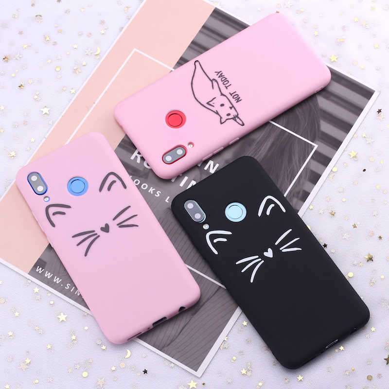 Samsung S8 S9 S10 S10e Artı Not 8 9 10 A7 A8 Kedi yavru kedi Memes Kitty Sevimli Şeker Silikon telefon kılıfı Kapak Çapa Fundas Coque
