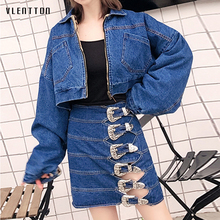 2019 New Sexy Denim Skirt Women Single Breasted High Waist A-line Mini Skirt Women Spring autumn Casual Blue Jean Skirt Female single breasted dual pockets denim skirt