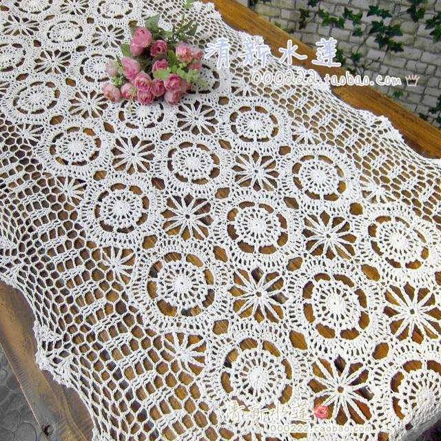 Diseño de moda francés crochet paño de tabla camino de mesa rústica ...