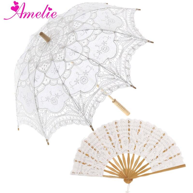 Parasol en dentelle pour la mariée