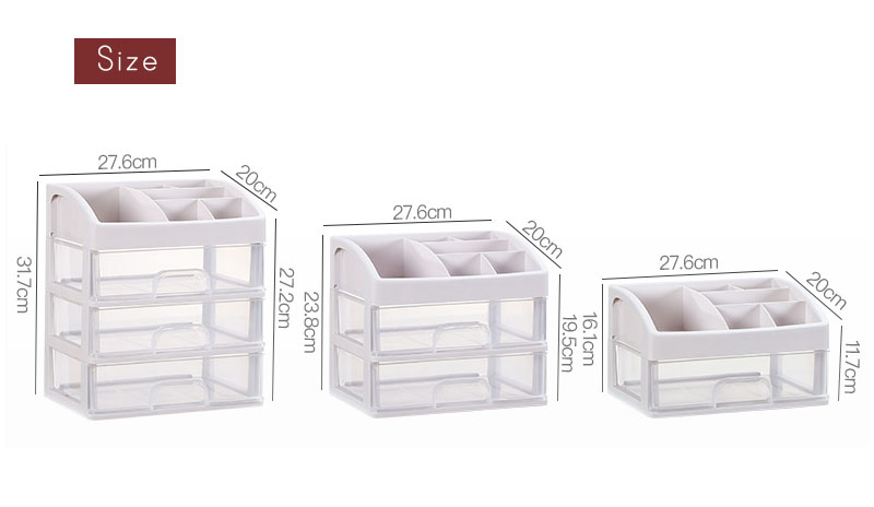Plastic Cosmetic Storage Box to Organize Makeup with Drawers for Dressing Table of Women 8
