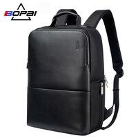 BOPAI Brand Laptop Backpack Anti theft Backpack Men 15 Inch Microfiber Shoulders Travel Laptop School Bag Backpack Waterproof