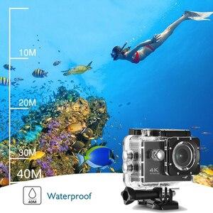 Image 4 - F600 F600R 4K Wifi kamera akcji 16MP 170D Sport DV 30M 1080P przejść wodoodporny Pro ekstremalne sporty wideo rower kask kamera samochodowa Dvr