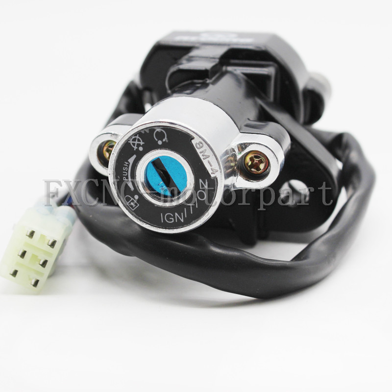 Motorcycle Ignition Switch Lock Set 2 Master Keys Fit For Suzuki GSF650 Bandit 650 2005-2012 GSF1200 Bandit 1997-2005 GSF600