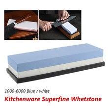 Sharpening Stone Whetstone Knife Sharpener Dual Sided 1000/6000 Grit Combination for Kitchen