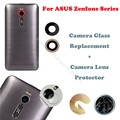 Para asus zenfone 2/6/max/pegasus 3 ze551ml zc550kl câmera lente de vidro substituição de vidro temperado tampa traseira de proteção adesivo