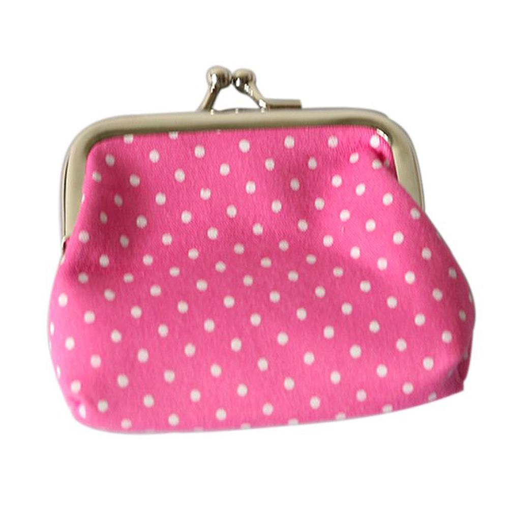 Wholesale 5* ( Popular Cute girls Wallet Clutch Change Purse key/coins bag Mini Handbag Pouch Rose red