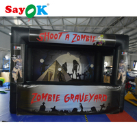 Giant Outdoor inflatable archery games inflatable shoot games(shoot zombie theme)