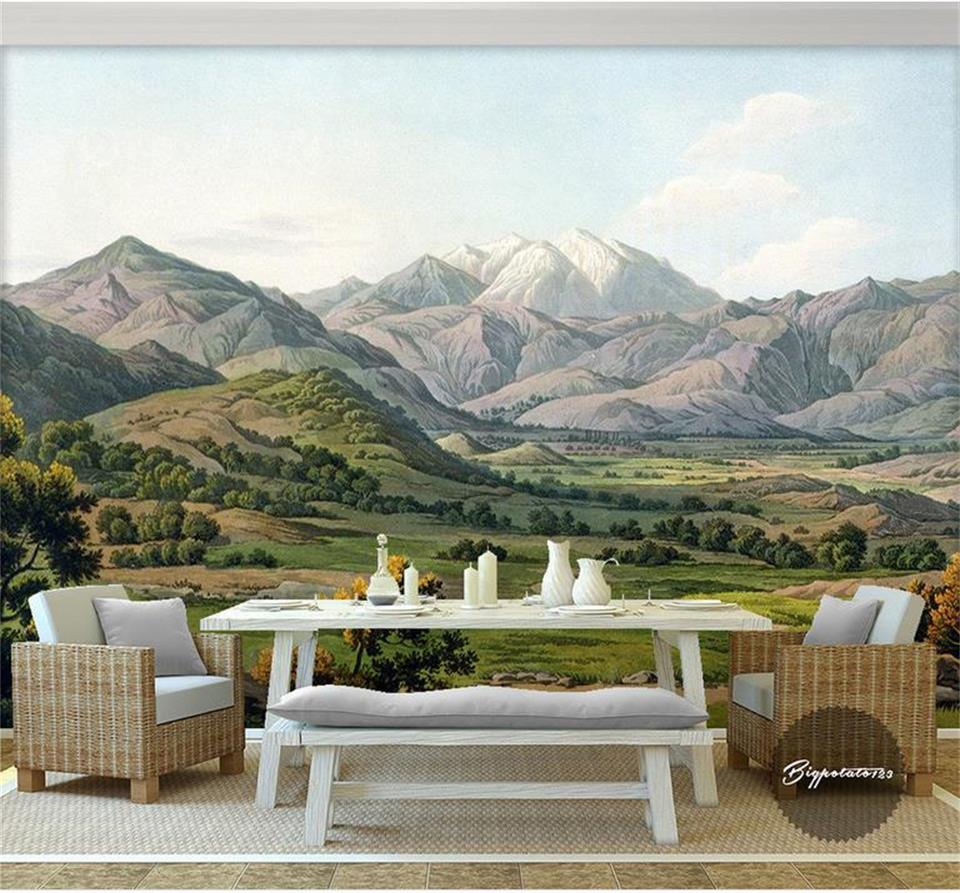 Cool Wallpaper Mountain Room - 3d-wallpaper-custom-photo-mural-non-woven-Mountain-range-Grass-sofa-background-wall-painting-living-room  Collection_64165.jpg