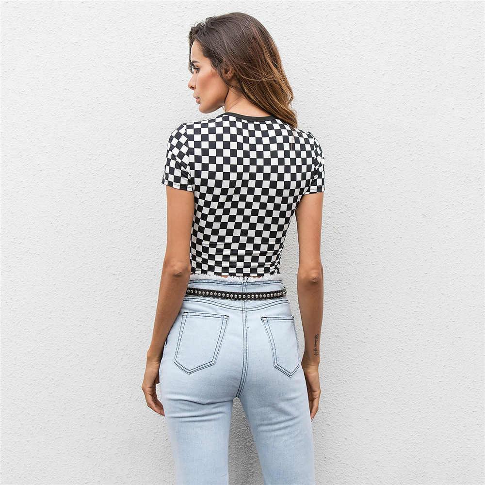cbde01af5025b Ladies Black And White Checkered Shirt - Data Dynamic AG