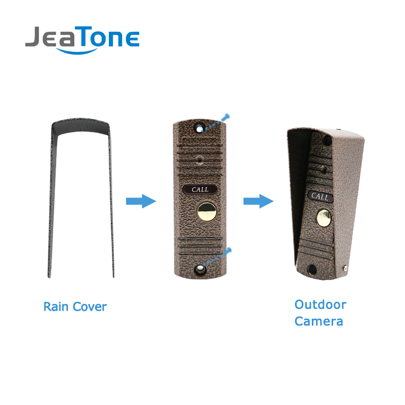 Купить с кэшбэком Door Phone Intercom Home Security Video Intercom Apartment doorbell video IR Night Vision Outdoor Call Panel