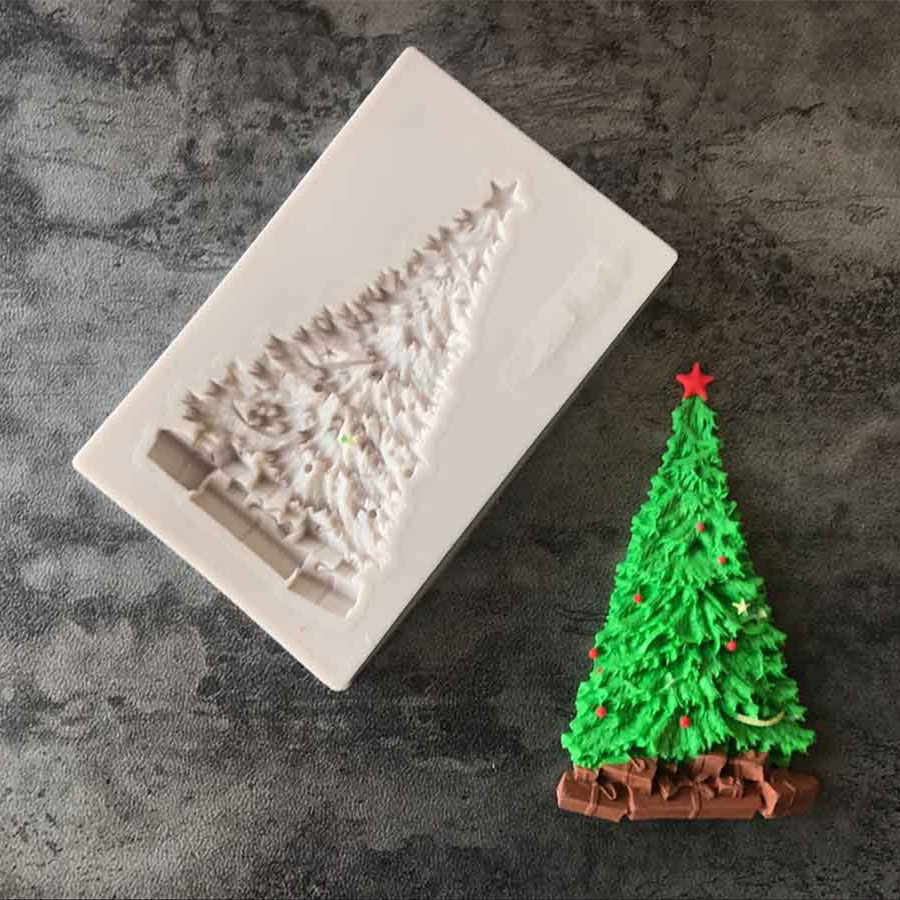 Christmas Tree Fondant Cake Silicone Mold Chocolate Candy ...