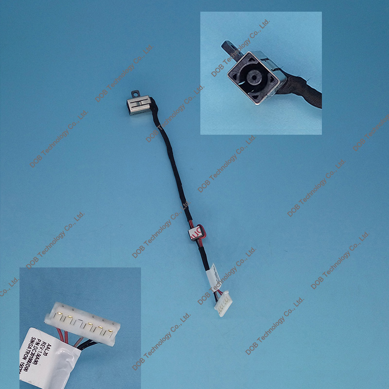 Laptop <font><b>DC</b></font> Power <font><b>Jack</b></font> socket Cable Wire connector for <font><b>Dell</b></font> Inspiron 15-5000 5551 5555 <font><b>5558</b></font> 14-5455 5458 P51F DC30100UD00 0KD4T9 image