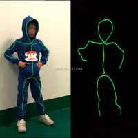 DIY EL disfraces luminosos trajes de luz LED para niños Año Nuevo etapa diseño de rendimiento resplandor fiesta Decoración