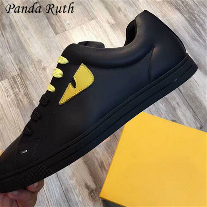 Panda Ruth 2019 Men  Shoes Fashion Lace-up Genuine Leather Sneakers Casual Zapatos De Hombre Non-slip Tenis Masculino