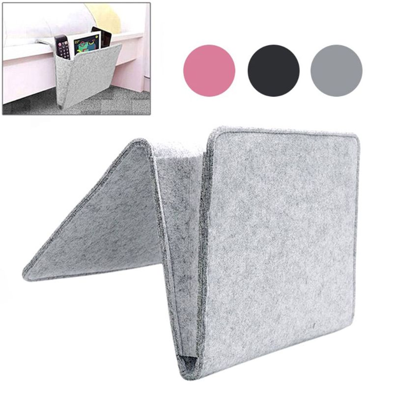Felt Bedside Pocket Bed Organizer Storage Phone Book Remote Case Holder Bag High Quality NoEnName_Null