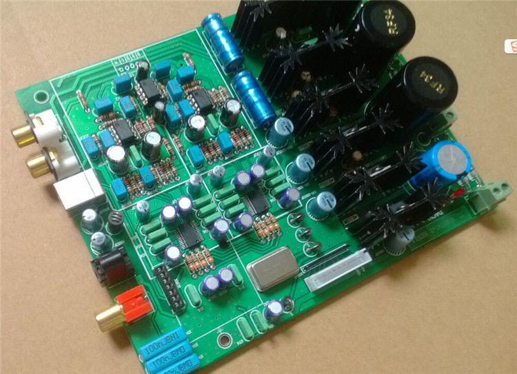 GZLOZONE Assembled Dual Wolfson WM8741+AK4118 Soft control decoding /DAC board L3-11
