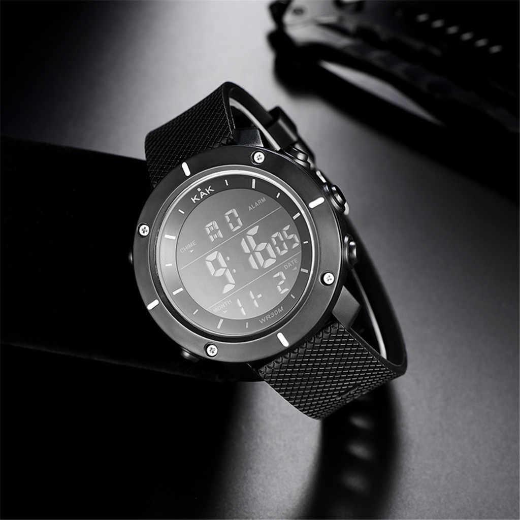 Montres hommes 30M étanche électronique LED numérique montre hommes de plein air hommes Sports montres bracelets chronomètre Relojes Hombre durableD4